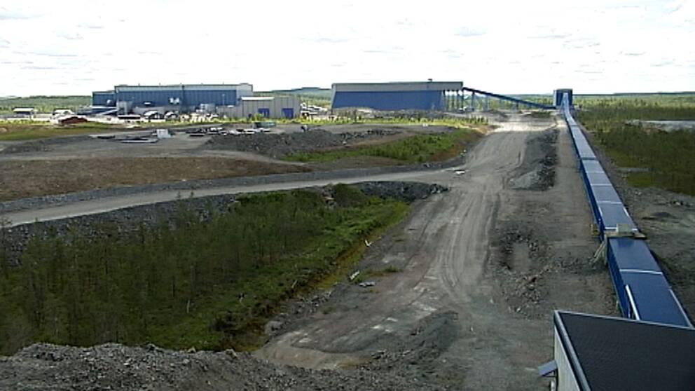 Arkivbild gruvan i Kaunisvaara Pajala kommun