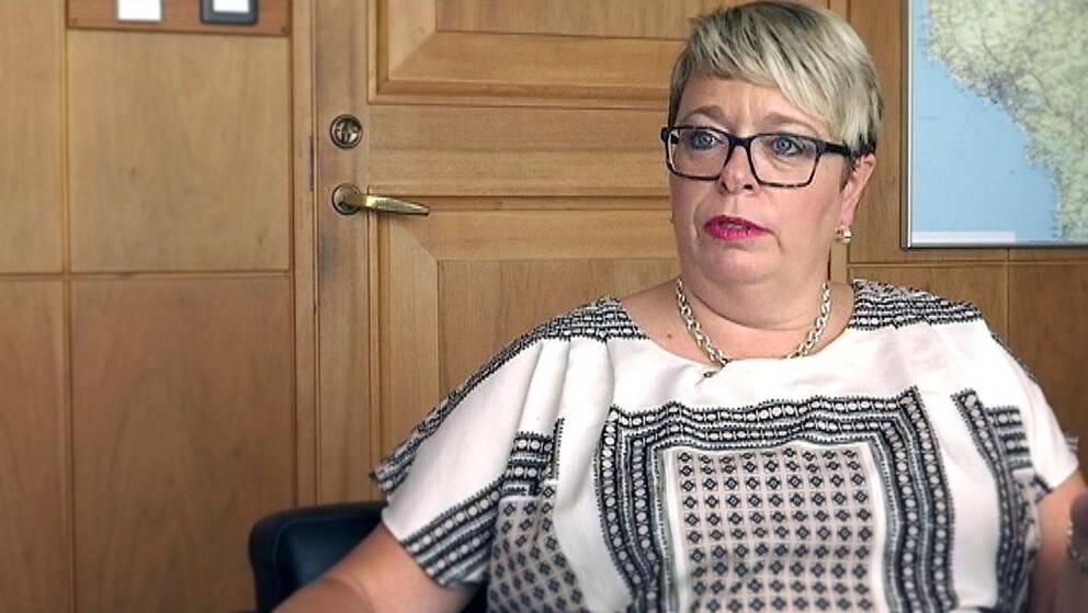 Mari-Louise Wernersson (C) är kommunstyrelsens ordförande i Falkenberg.