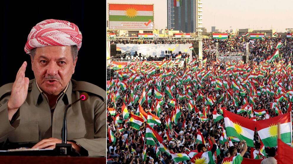 Irakiska Kurdistan president Massud Barzani.