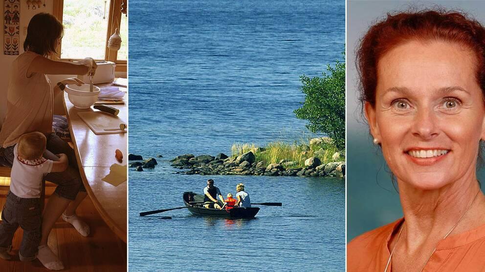 Samtalsterapeuten Judith Molnar, längst till höger.