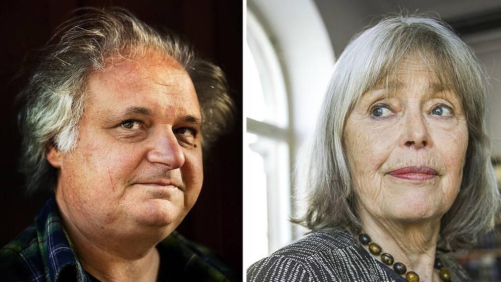 Göran Greider och Agneta Pleijel.