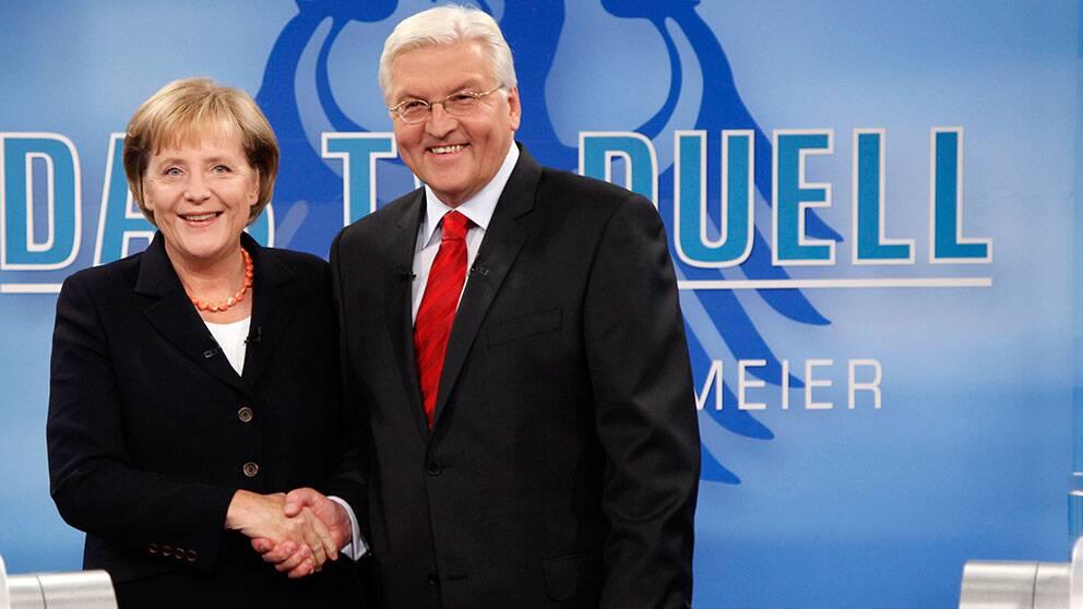 Frank-Walter Steinmeier var socialdemokraternas kandidat mot Angela Merkel 2009