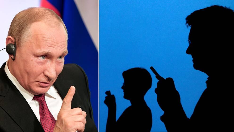 Rysslans president Vladimir Putin förnekar bestämt att han försökt påverka utgången av presidentvalet i USA