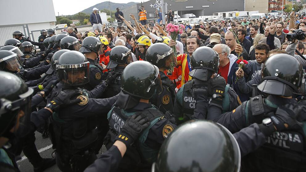 844 personer skadade i Katalonien