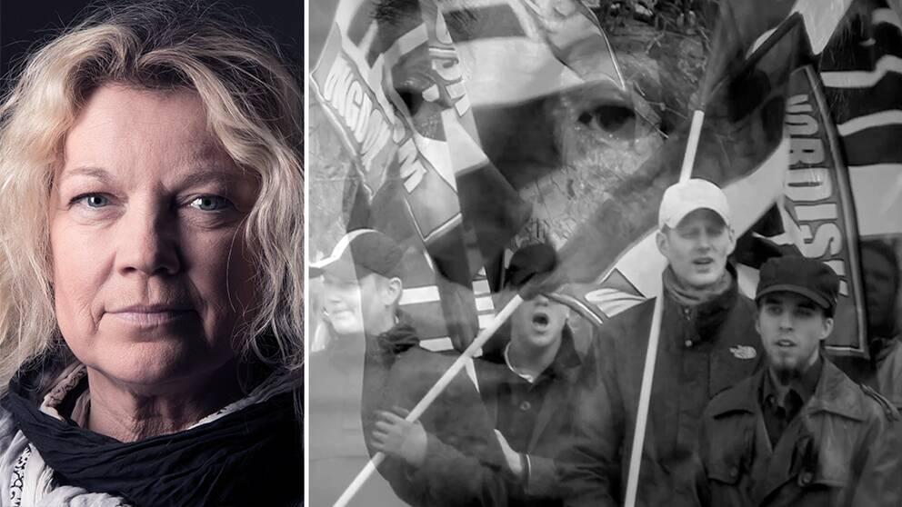 Elisabeth Ohlson Wallin filmade nazister och motdemonstranter under Nordiska motståndsrörelsens demonstration i Göteborg den 30 september 2017.