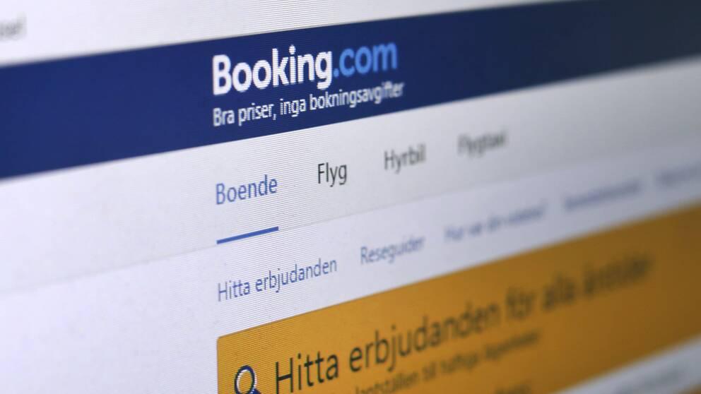 Bild på booking.com:s hemsida.