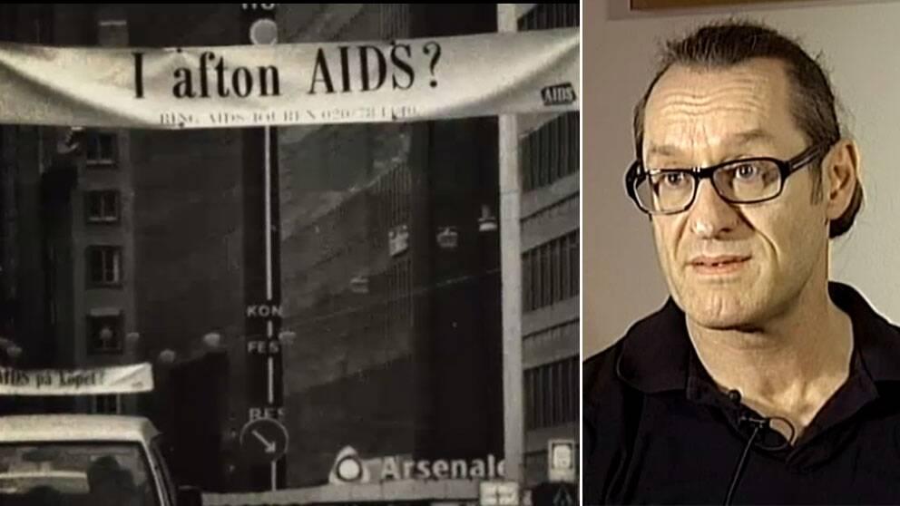 Ludde Isaksson smittades av hiv på 80-talet, då många var rädda för sjukdomen.