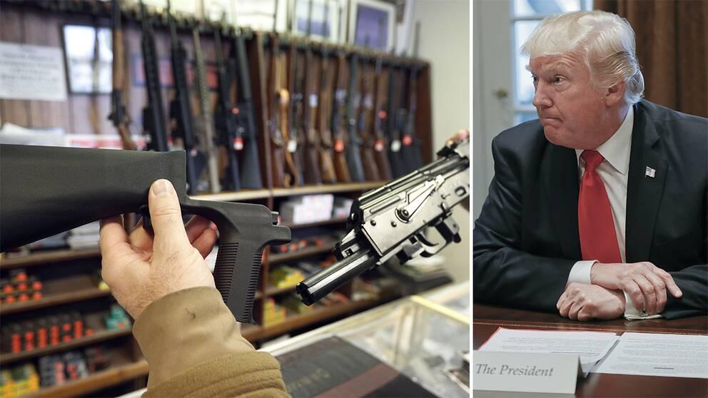 Trump ska titta pa vapenlag