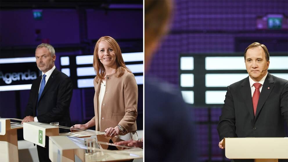 Bilder från Agendas partiledardebatt i maj i år.