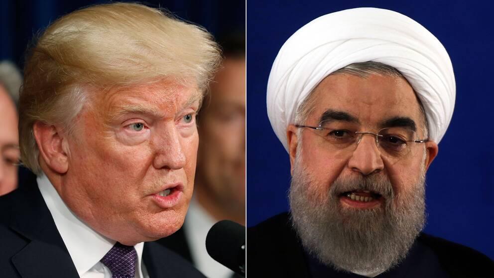 USA:s president Donald Trump och Irans president Hassan Rouhani