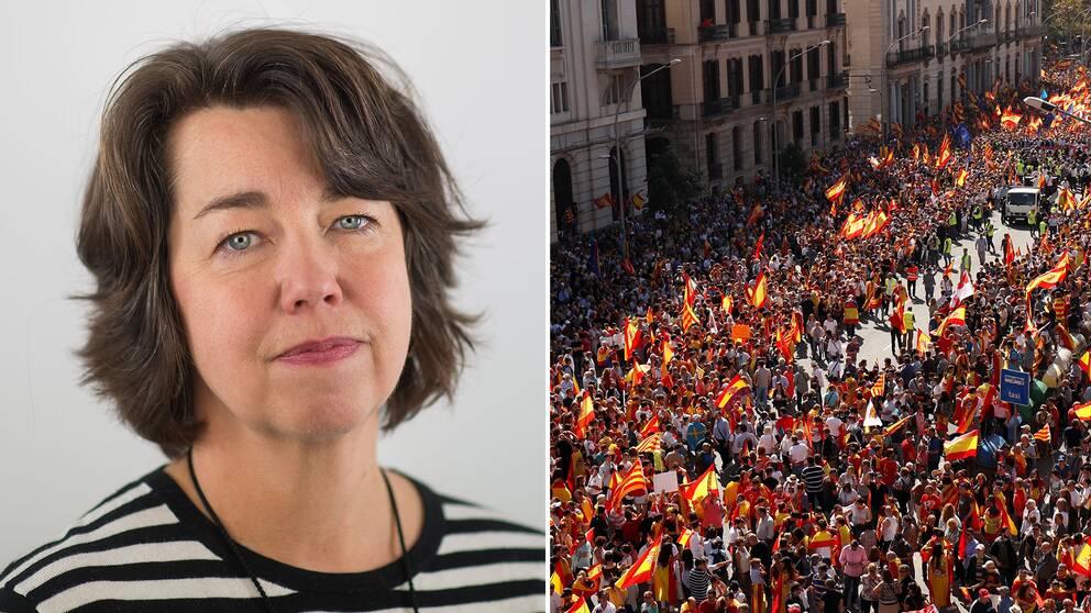 SVT:s utrikeschef Pia Bernhardson om situationen i Katalonien.
