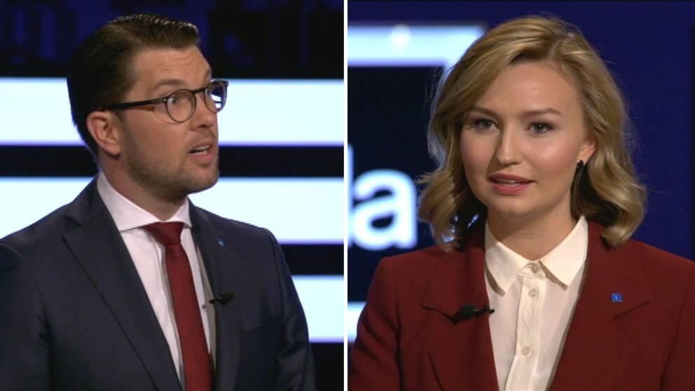 Jimmie Åkesson (SD) och Ebba Busch Thor (KD)