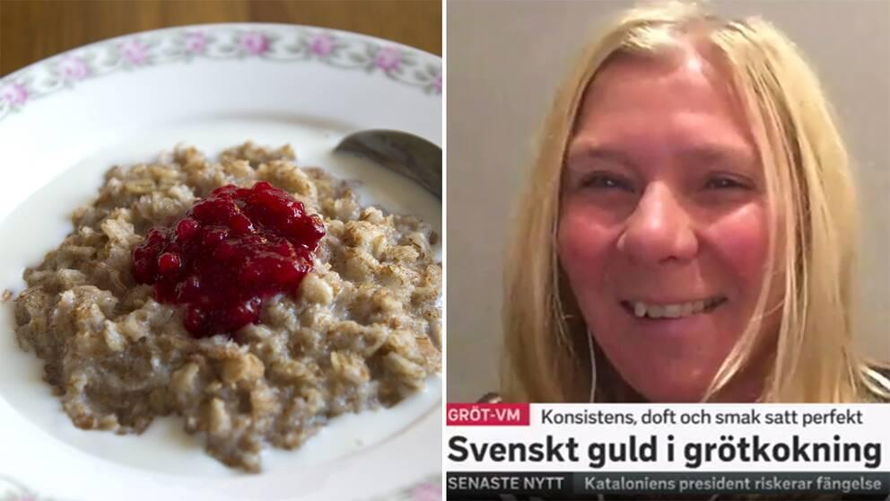 Ellinor Persson från Påarp kokade i finalen i Skottland en perfekt gröt som gav henne världsmästartiteln i grötkokning