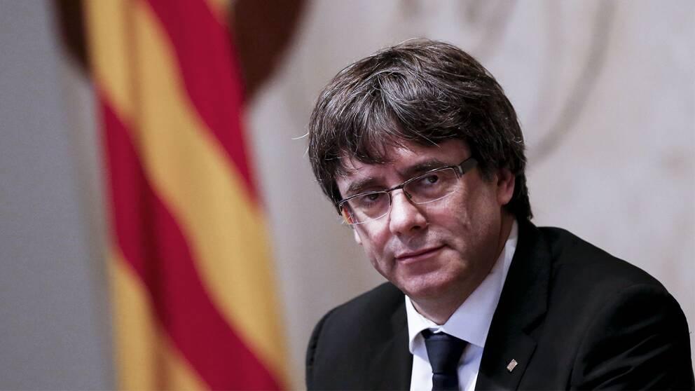 Regionen Kataloniens president Carles Puigdemont har länge kämpat för den katalanska självständigheten.