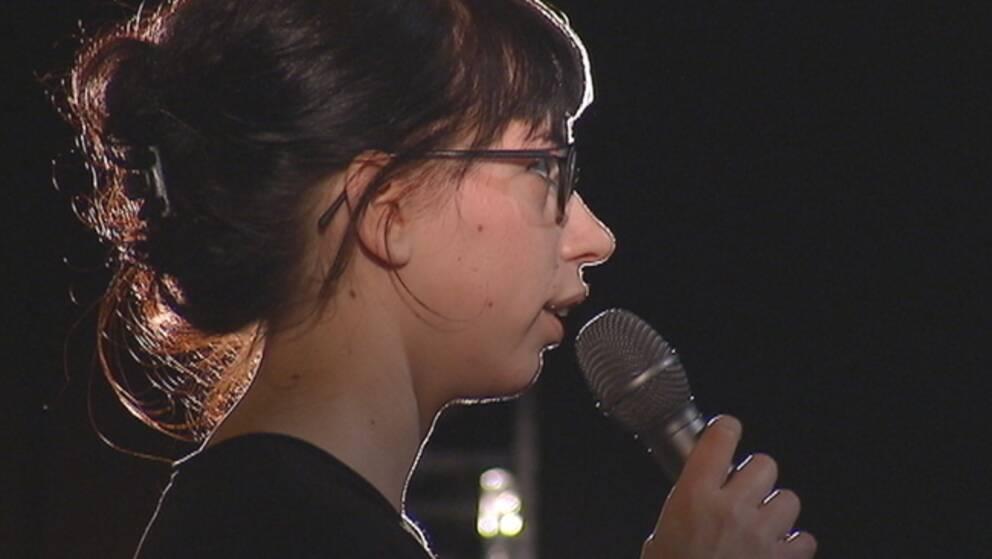 My Vingren, debattör och spoken word-artist. Foto: SVT Kulturnyheterna