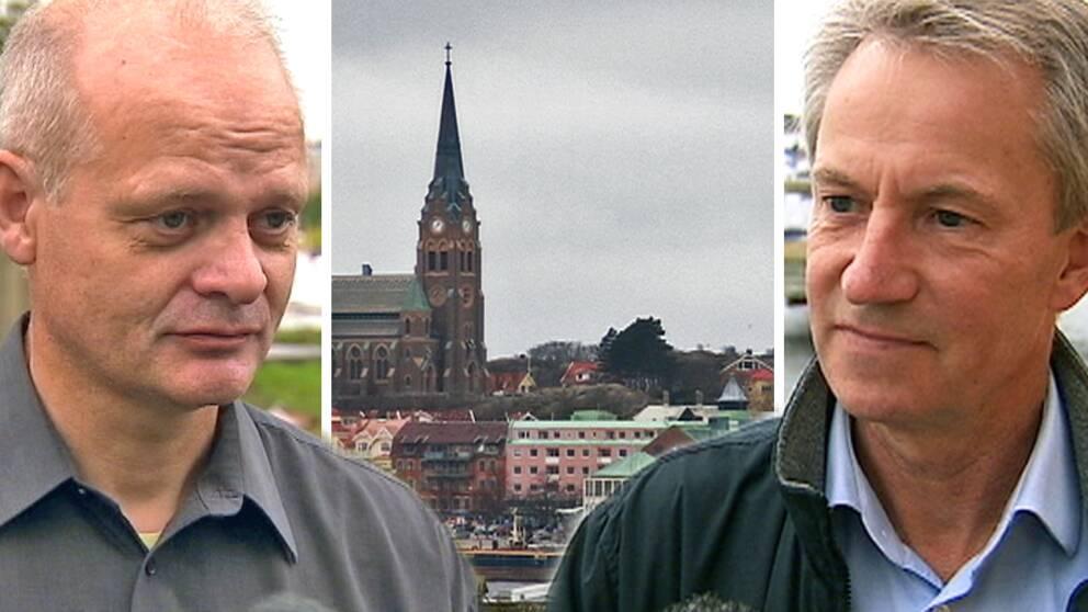 Porträtt av de två politikerna