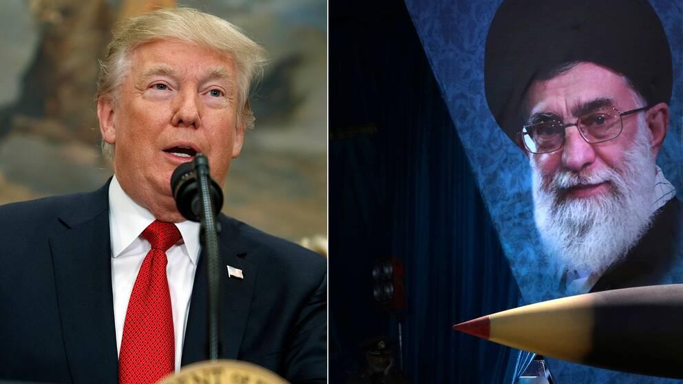 USA:s president Donald Trump och Irans ledare ayatolla Khamenei.