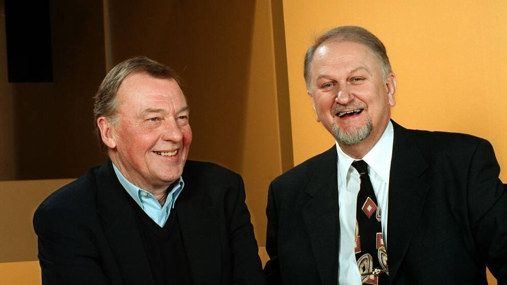 Lördags-TEVEN sändes i SVT21999. Bo Holmström och Siewert Öholm.