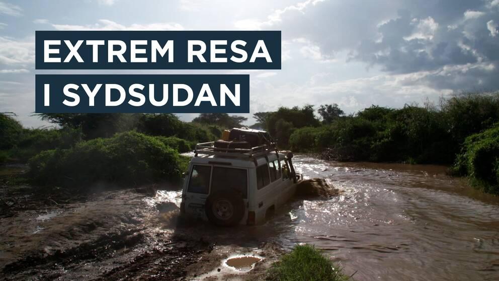 """Se en av Korrespondenternas mest extrema resor. """"Man kan alltid hoppas att det inte är våra väskor som står där inne..."""" säger Lena Scherman i sin videodagbok från Sydsudan."""