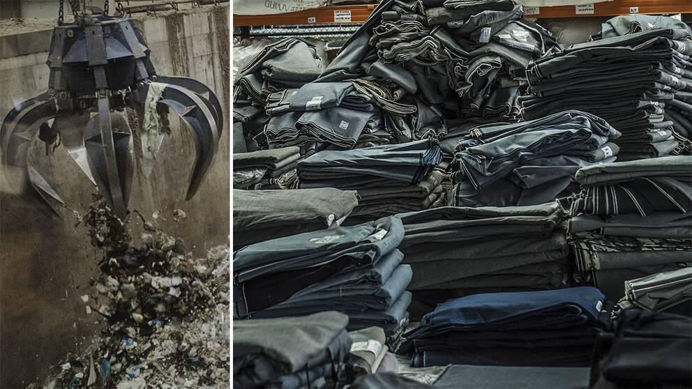 5fb91e84347c Sedan 2013 uppges H&M ha bränt tolv ton kläder, motsvarande 30.000 par  jeans. Foto: TT