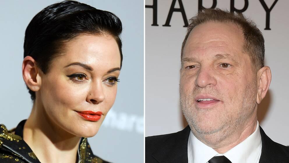 Skådespelerskan Rose McGowan har anklagat filmproducenten Harvey Weinstein för våldtäkt.