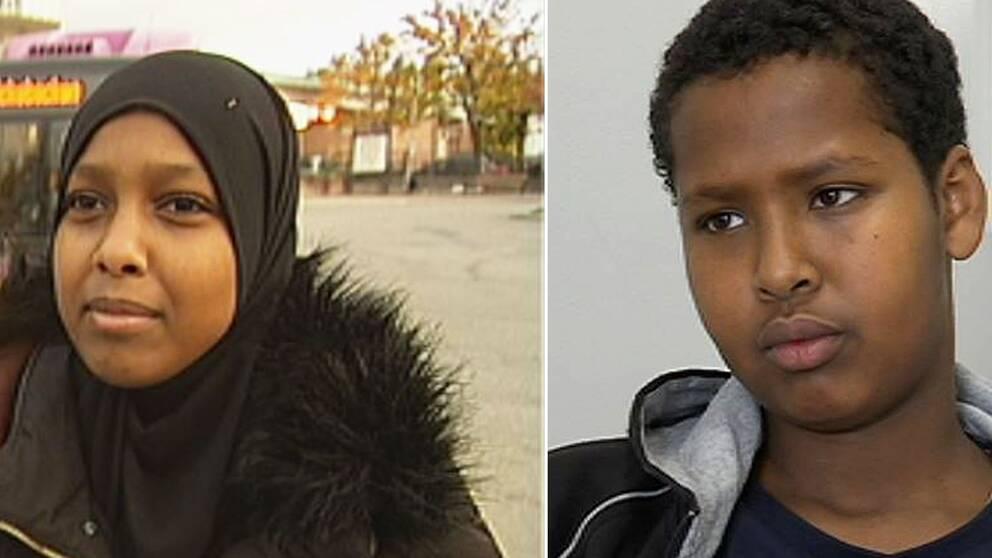 Ogbad Osman och Abdullahi Mahad, två elever som flyttats från Vivallaskolans högstadium.