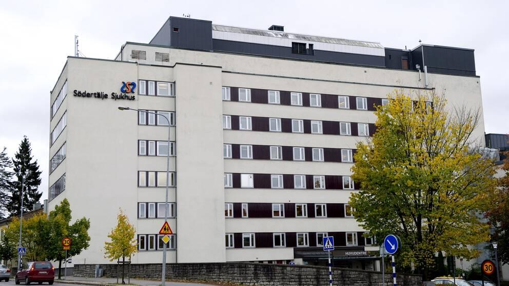 Exteriör på Södertälje sjukhus