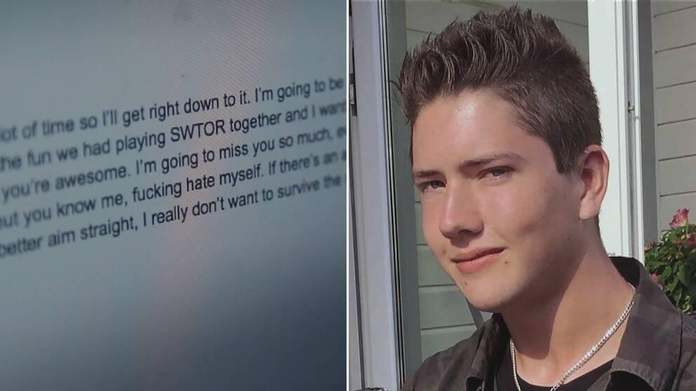 """Anton Lundin Pettersson skrev ett avskedsbrev till """"sin enda vän"""""""