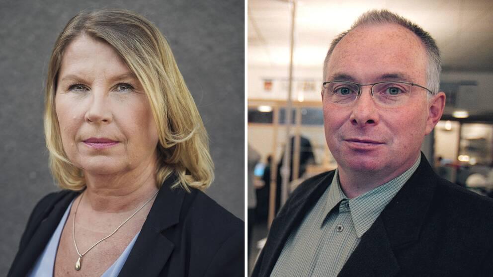 Charlotta Friborg, ansvarig utgivare på SVT Riksnyheterna och Ola Sigvardsson, Allmänhetens Pressombudsman.