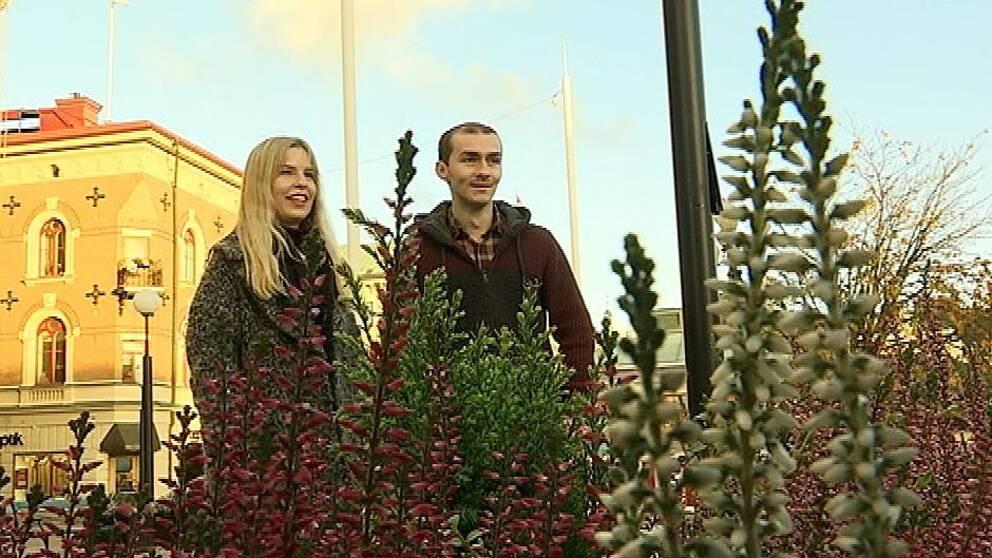 Josefin Gannå och Wisam Orabi Alkhen är språkvänner