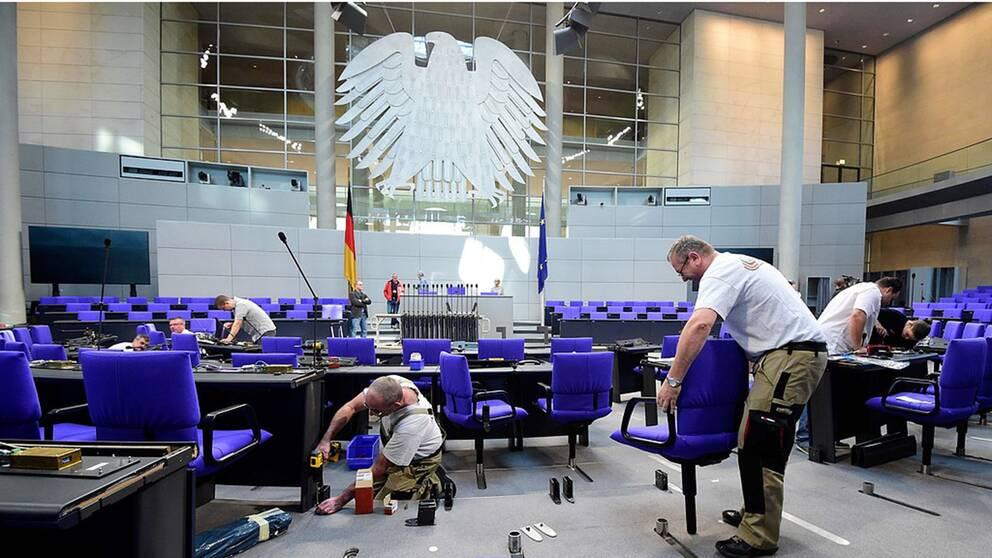 Den tyska förbundsdagen har olika antal ledamöter efter varje val.