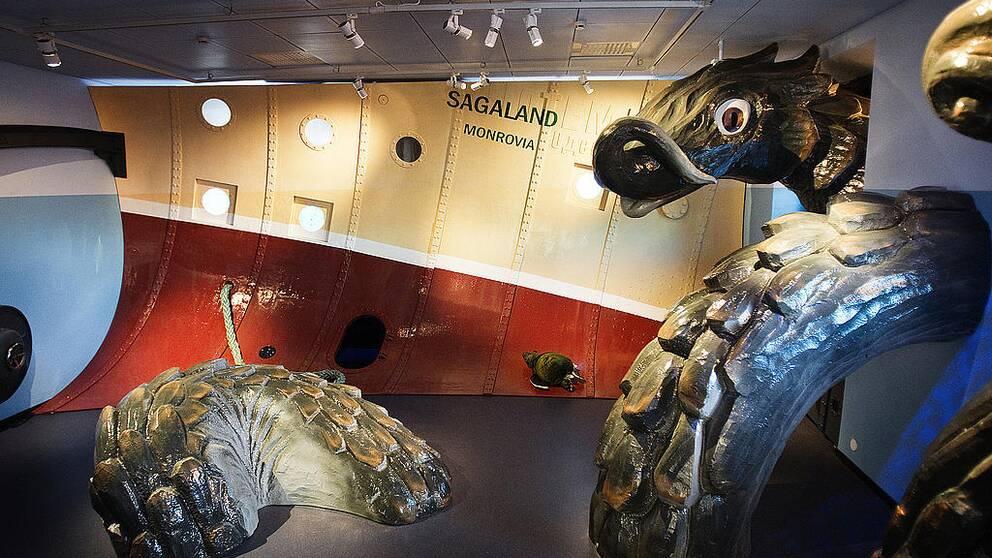 Sjöodjur på Sjöfartsmuseet.