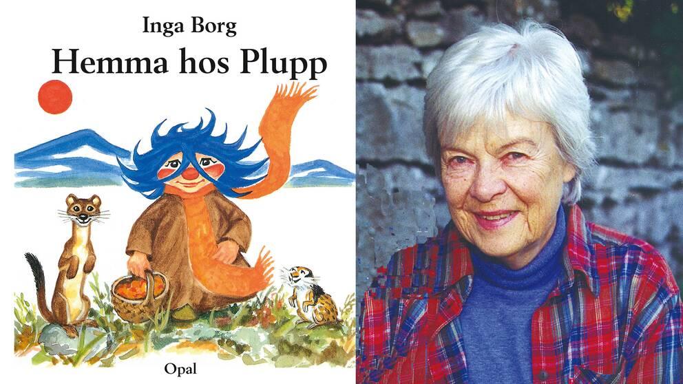 Författaren, konstnären och pluppskaparen Inga Borg.