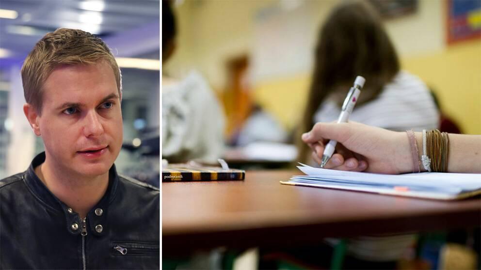 """Gustav Fridolin (MP): """"Alla får en bättre skola om man på samma skola möts med olika bakgrund""""."""