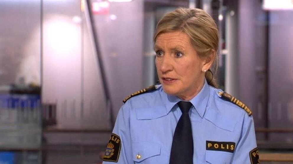Carin Götblad, chef polisregion Mitt i morgonstudion