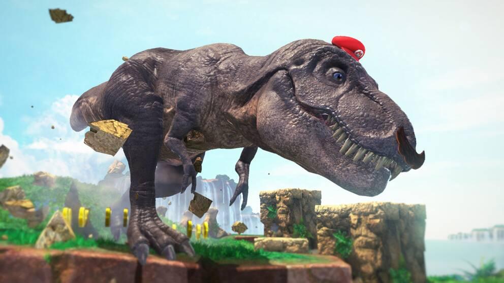 Med hjälp av sin nya vän Cappy – den levande hatten – kan Mario förvandla sig till en lång rad fiender. Bland annat en dinosaurie.
