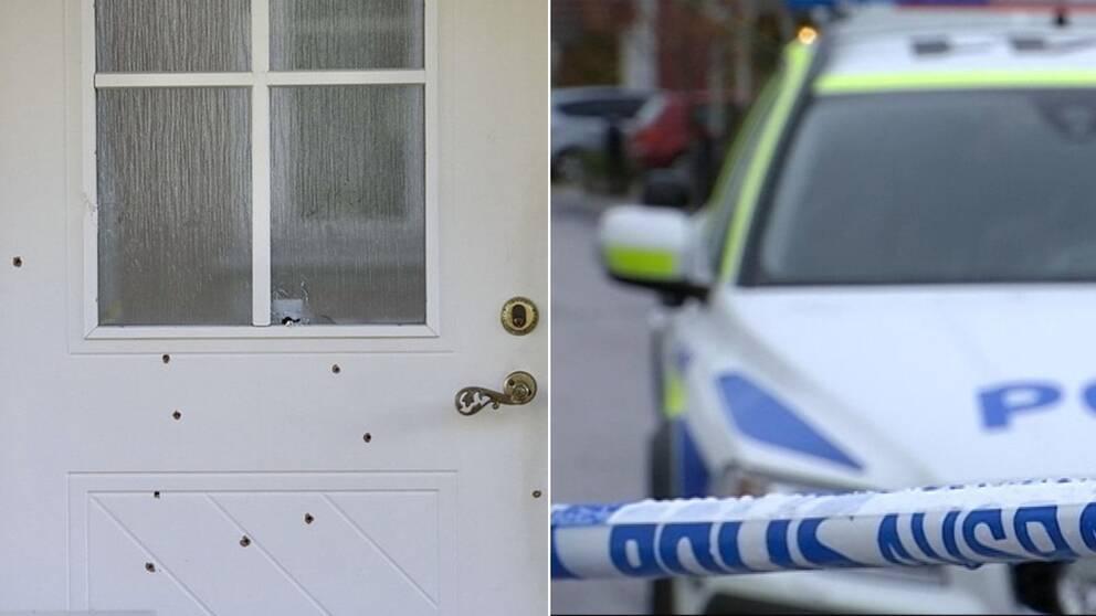 Dörren till polisens hus.