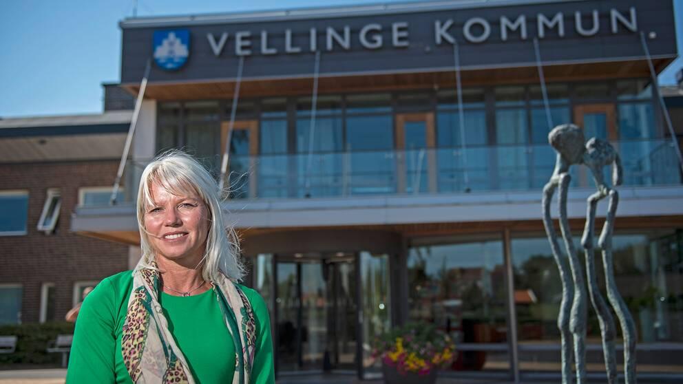 Carina Wutzler (M), kommunstyrelsens ordförande i Vellinge.