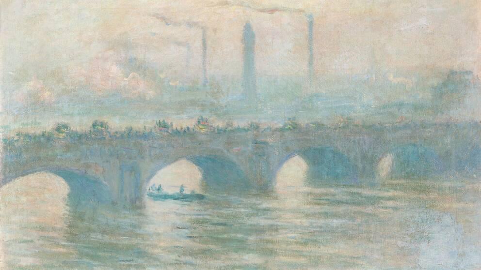 """Claude Monets """"Waterloo Bridge"""" från 1903 fanns bland de skadade verken som hittats hos konstsamlaren Gurlitt."""