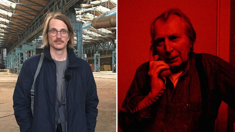 Regissören Nils Petter Löfstedt och fotografen Jean Hermanson.