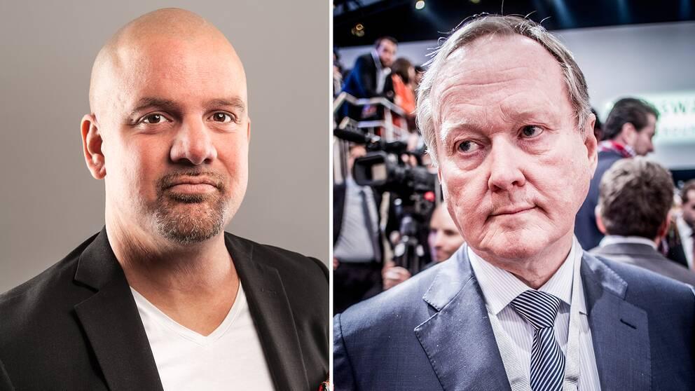 Johan Ingerö, ansvarig för välfärdsfrågor på Timbro och Leif Östling, ordförande Svenskt Näringsliv.