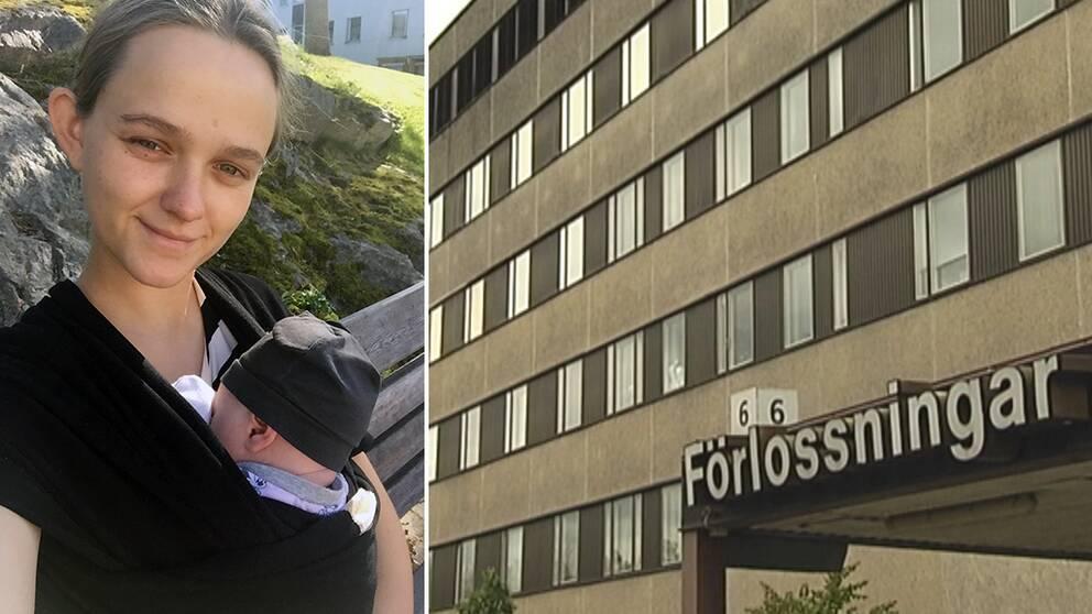 Jennifer Liljekvist, 23, tvingades föda i ett garage utanför Östra sjukhuset i Göteborg efter att ha nekats plats på Förlossningen i Trollhättan.