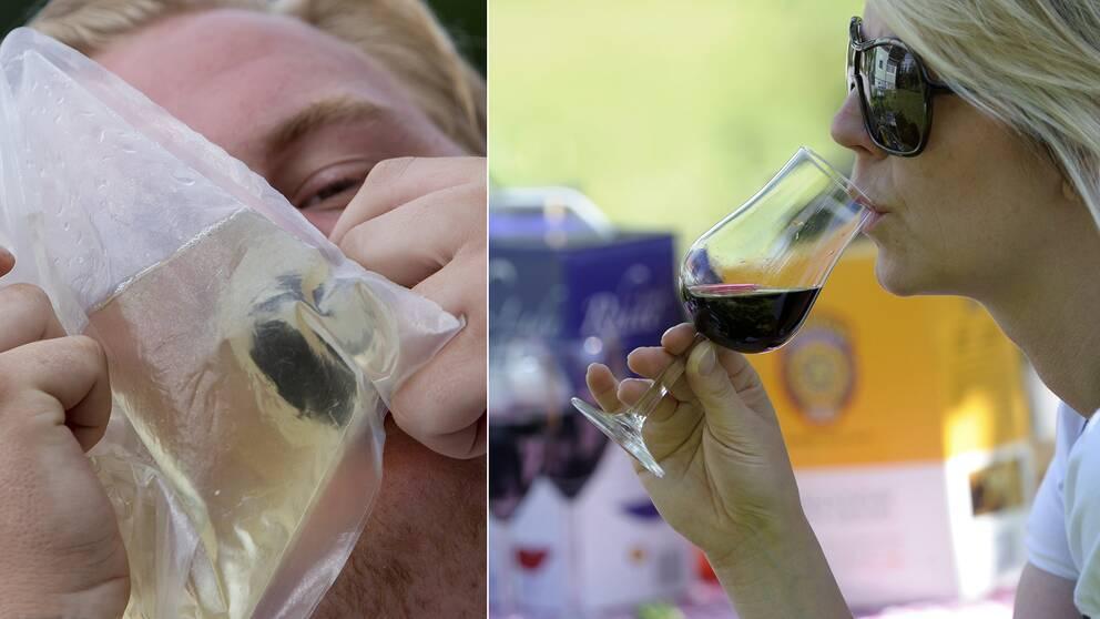 Svenskarna dricker tre glas vin mer i månaden på grund av lådvinerna, visar en ny rapport.