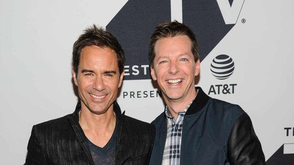 Skådspelarna Eric McCormack och Sean Hayes från tv-serien Will And Grace.