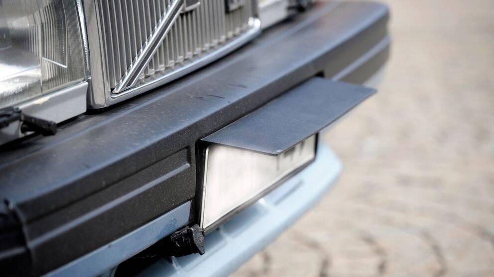 nummerplåt registreringsskylt bil