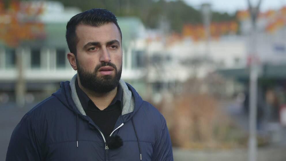 """""""Jag har ingen aning om vad som hänt med henne"""" säger Farman Sediq om flickvännens försvinnande."""