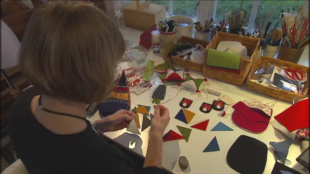 Helena Bengtsson har sytt väskor i många år.