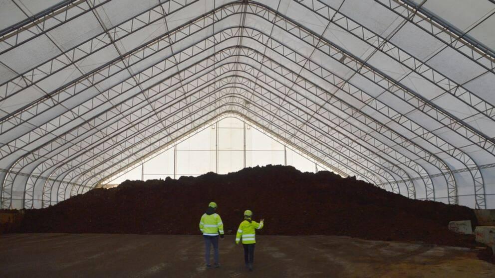 Mellanlager för förorenad jord på Fortum waste solution i Norrby, Kumla.