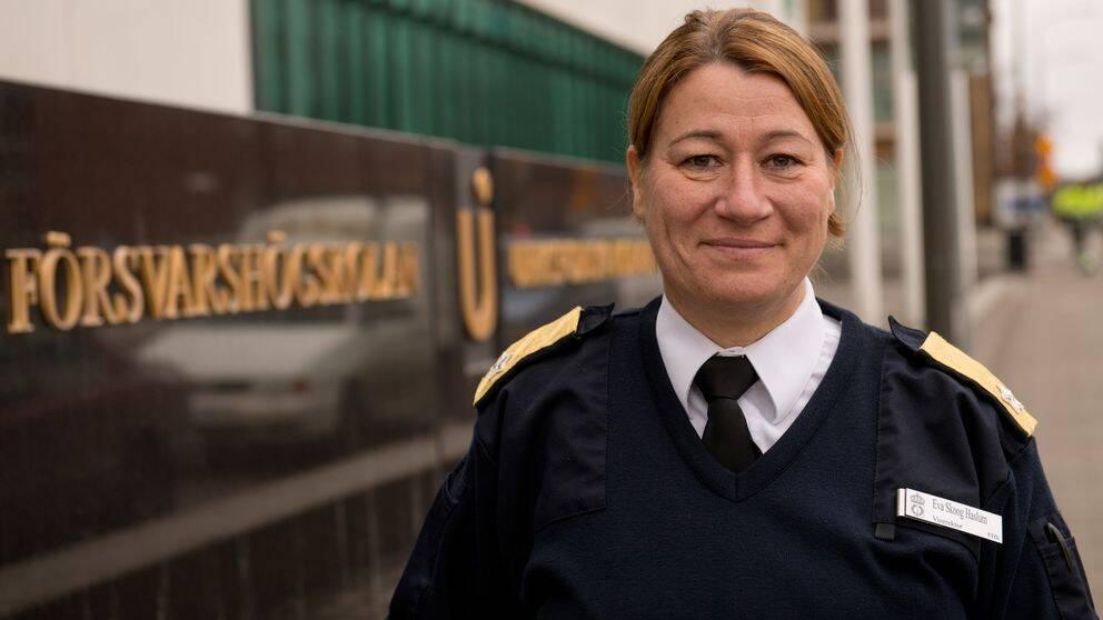 Flottiljamiral Ewa Skoog Halsum är vice rektor vid Försvarshögskolan.