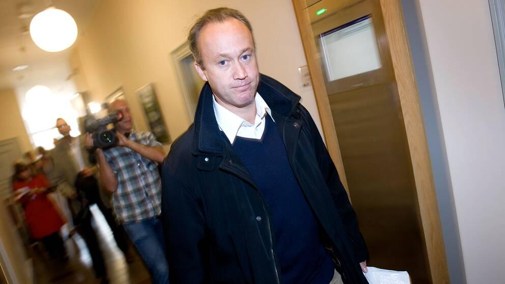 Thomas Jisander i samband med hovrättsförhandlingen om Trustor-härvan 2009